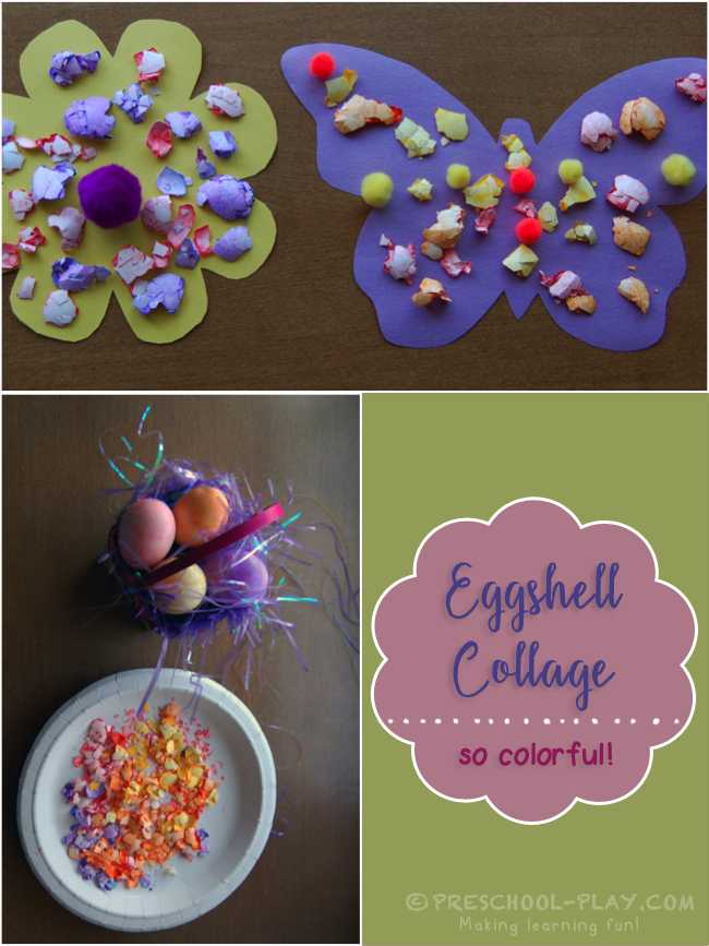 Colored Eggshell Collage