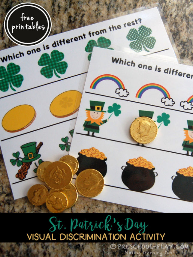 St. Patrick's Day Visual Discrimination Activity