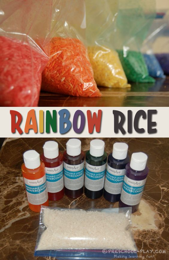 How to Make Rainbow Colored Rice