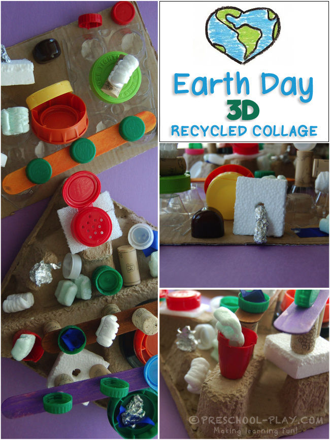 Earth Day Recycled Collage