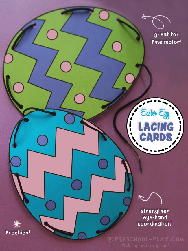 photo relating to Printable Lacing Cards referred to as Absolutely free Printable Easter Egg Lacing Playing cards