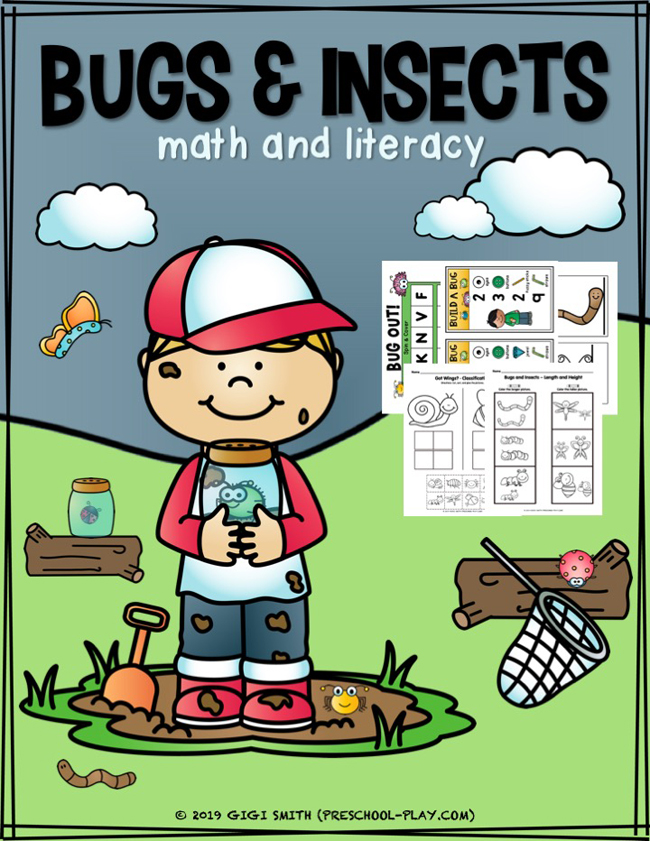 Bugs and Insects Math and Literacy Activities