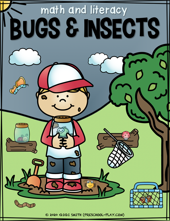 Bugs And Insects Math And Literacy Activities Preschool Play