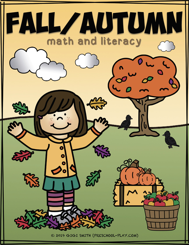Fall Autumn Math and Literacy Activities