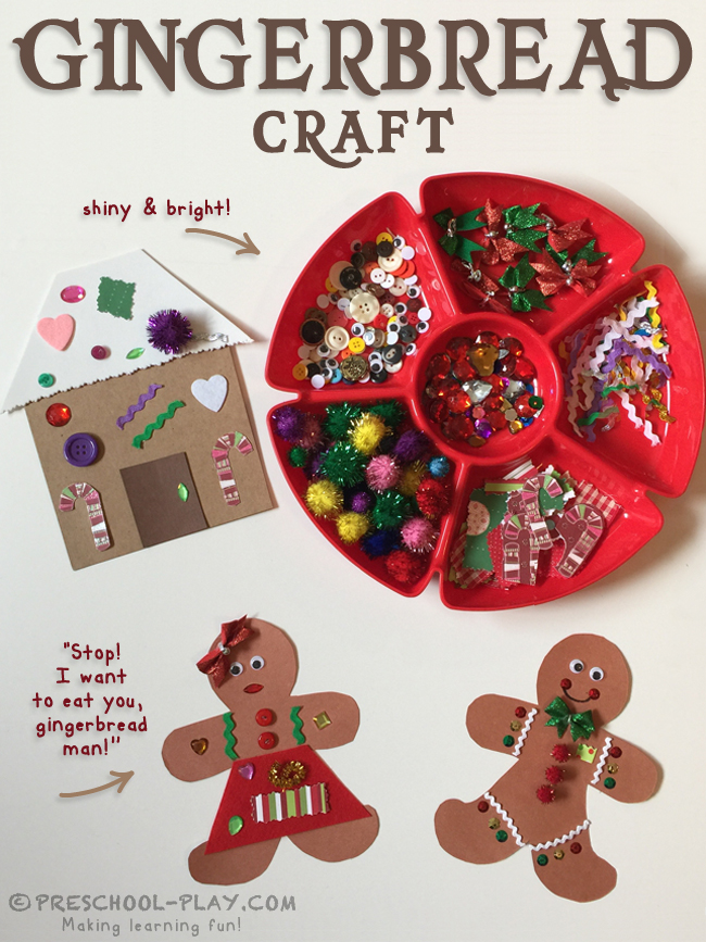 The Gingerbread Man Craft Preschool Play