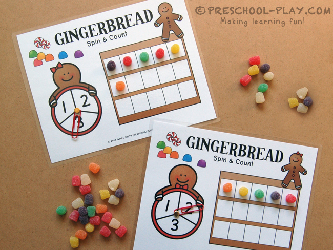 Gingerbread Spin & Count