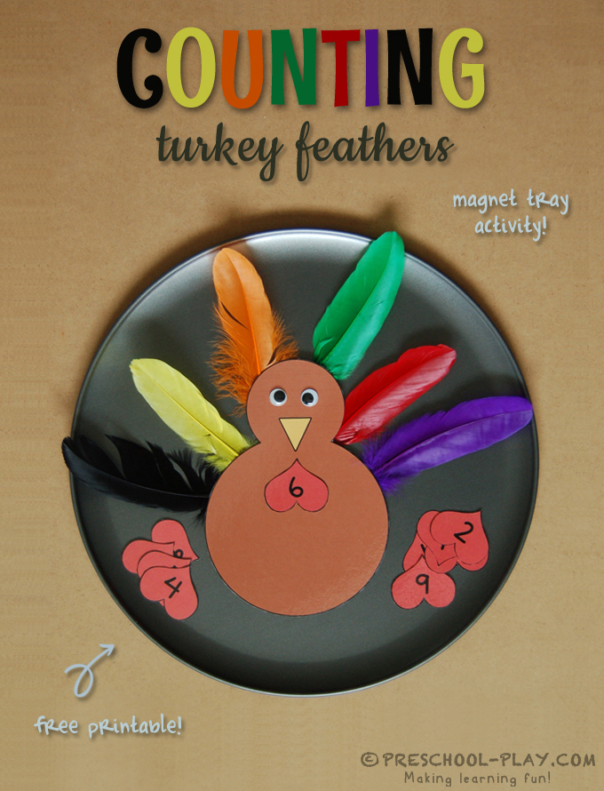 turkey feather counting activity