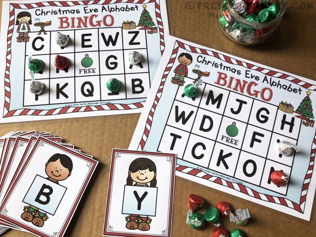 Christmas Eve Alphabet Bingo