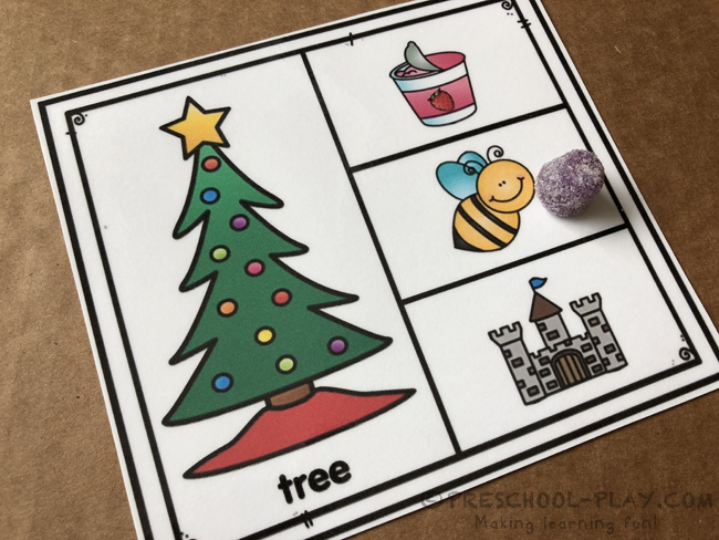 Christmas Rhyming Task Cards
