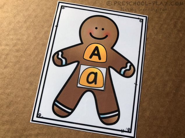 Gingerbread Alphabet Match-Up