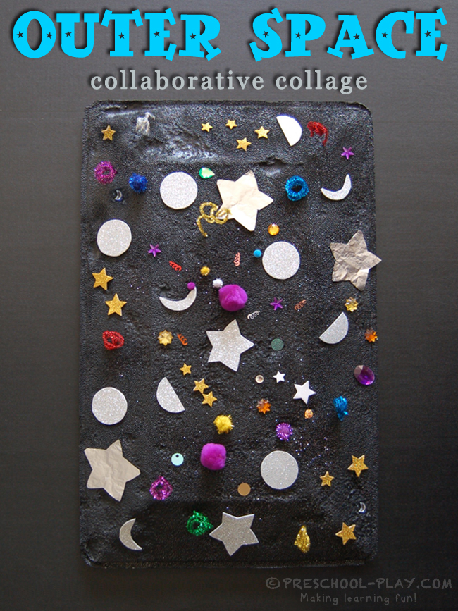 outer space collaborative collage