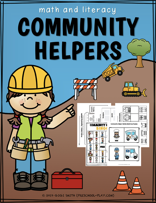 Community Helper Math and Literacy Activities