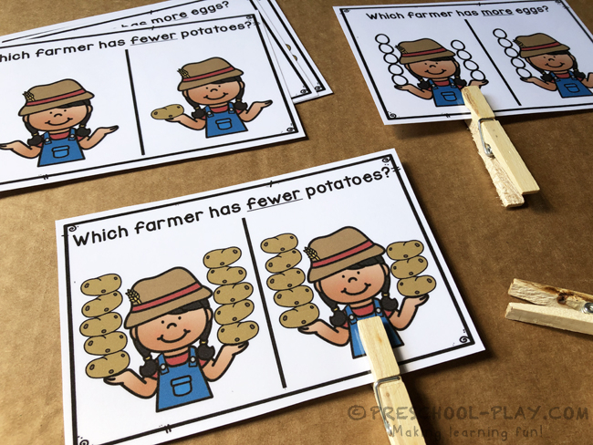 On the Farm Math and Literacy Activities