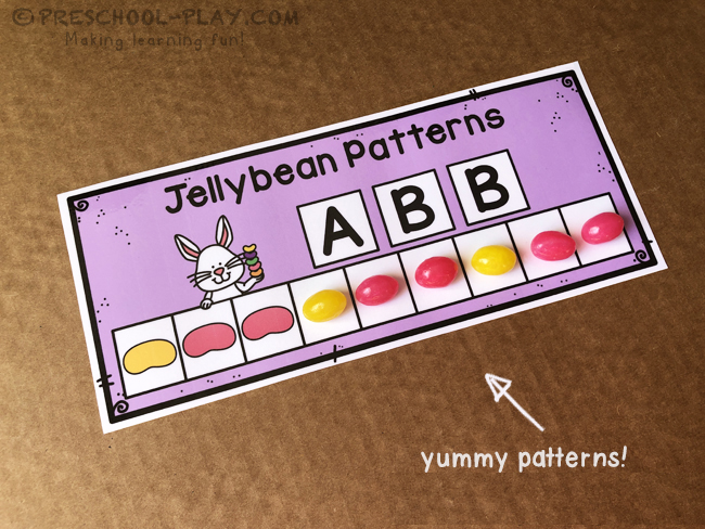 Jellybean Pattern Task Cards