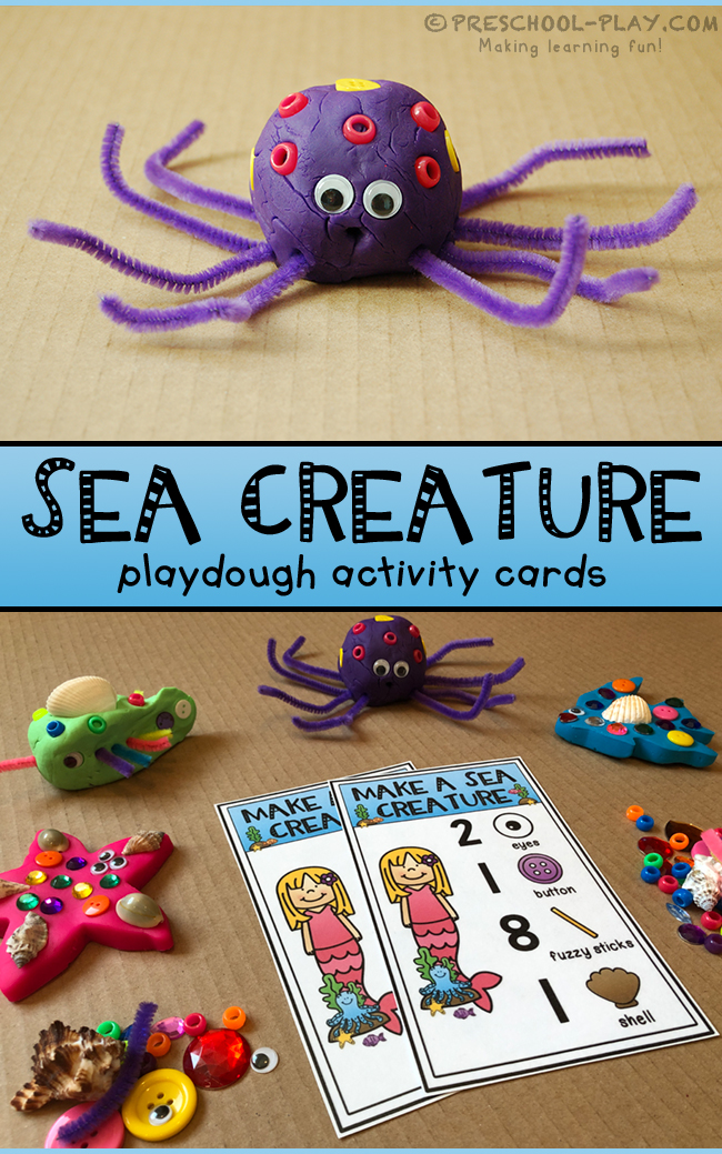 Make a Sea Creature Playdough Activity