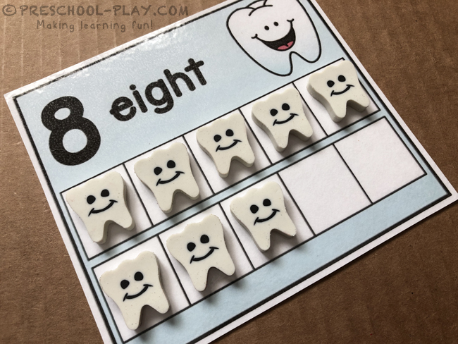 Happy Teeth Ten Frame Cards