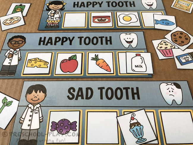 Happy Tooth, Sad Tooth Classification Task Cards