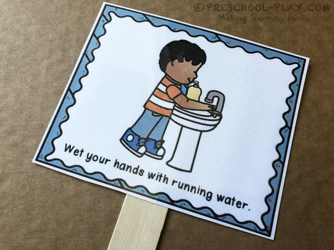 How to Wash Your Hands Jumbo Sequencing Cards