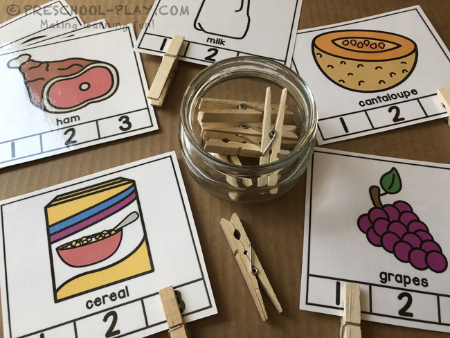 Yummy Food Syllable Clap & Count Task Cards