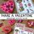 Make a Valentine Playdough Activity Cards