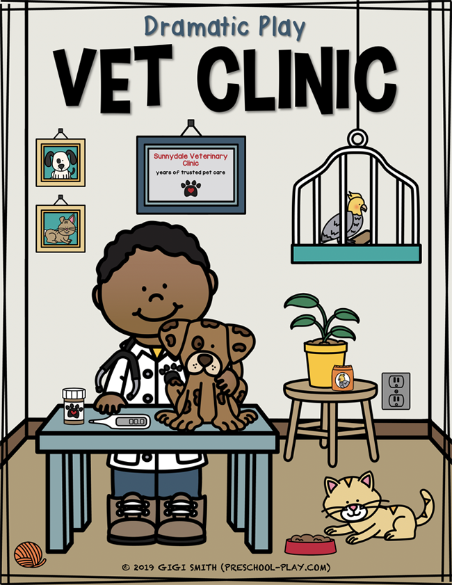 Vet Clinic Dramatic Play