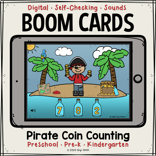 Pirate Coin Counting Boom Cards™