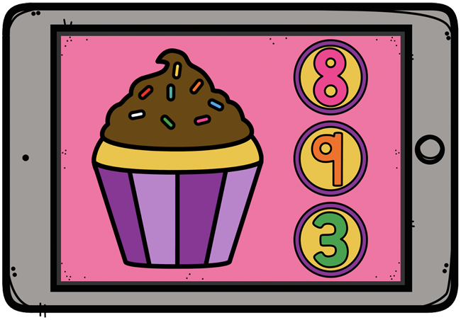 Counting Cupcake Sprinkles Boom Cards