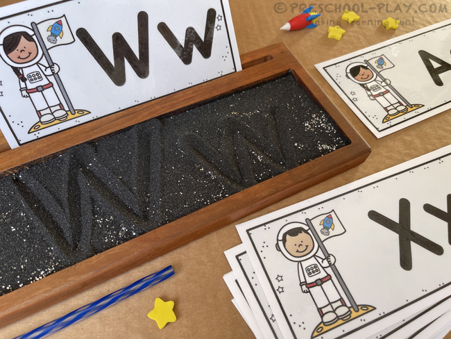 Outer Space Writing Tray Cards