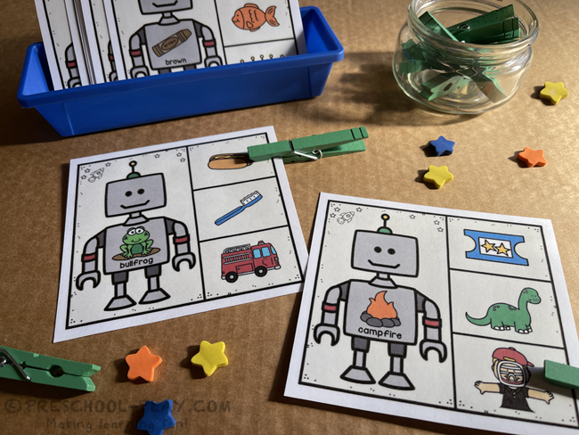 Robot Rhyming Task Cards