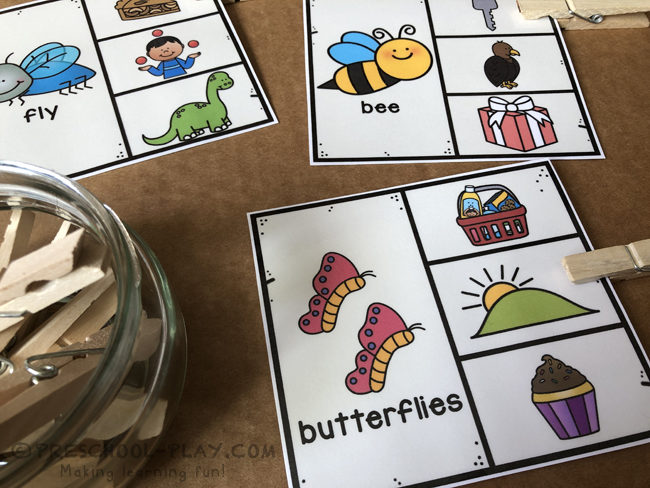 Bugs and Insects Rhyming Task Cards