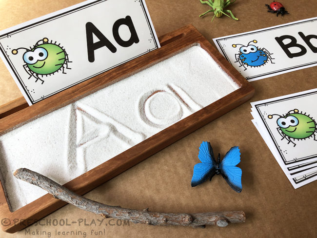 Bugs and Insects Writing Tray Task Cards