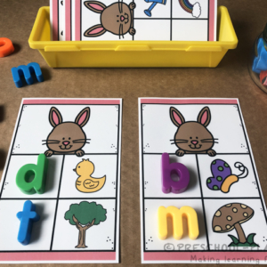 Spring Beginning Sounds Task Cards