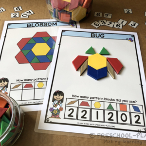 Spring Pattern Block Activity Mats