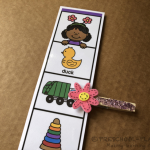 Spring Rhyming Clip Strips
