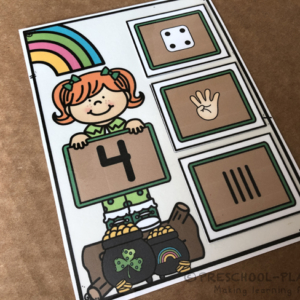 St. Patrick's Day Subitizing Task Cards