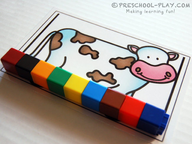 Farm Animal Measuring Cards